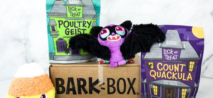 Barkbox October 2020 Subscription Box Review + Coupon