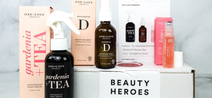 Beauty Heroes October 2020 Subscription Box Review