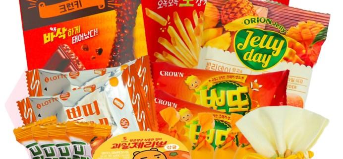 Korean Snack Box October 2020 FULL Spoilers + Coupon!