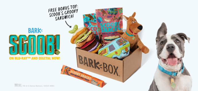 BarkBox Coupon: FREE Scoob's Groovy Sandwich Toy + Guaranteed Scooby Doo Limited Edition Box!