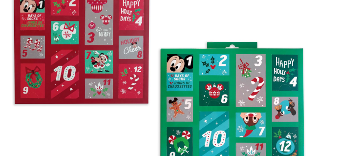 shopDisney 2020 Disney Socks Advent Calendars Now Available!