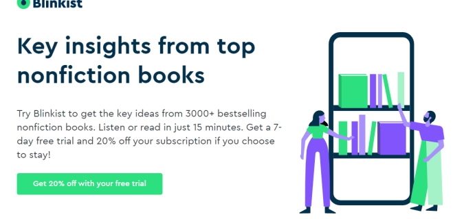 Blinkist Coupon: FREE Trial + 20% Off First Year!