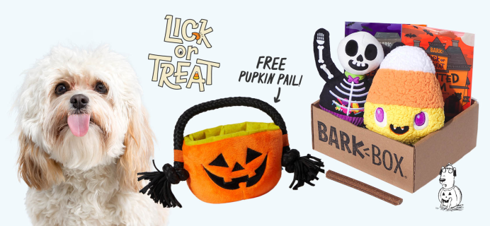 BarkBox Coupon: FREE Pumpkin Pail Toy + Halloween Themed Limited Edition Box!