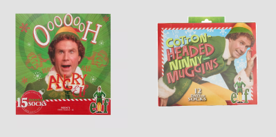 2020 Elf Movie Socks Advent Calendars Available Now! {Men's}