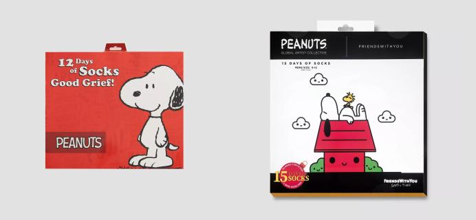2020 Peanuts Socks Advent Calendars Available Now! {Men's}
