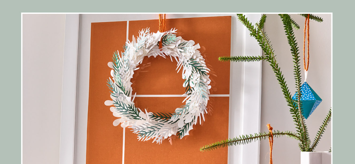 Paper Source x West Elm Home For The Holiday DIY Box Available Now!