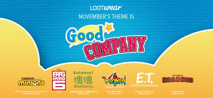November 2020 Loot Wear Full Spoilers & Coupons!