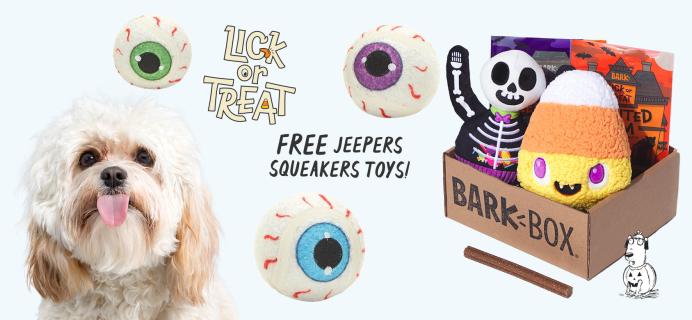 BarkBox Coupon: FREE Tennis (Eye)Balls + Halloween Themed Limited Edition Box!