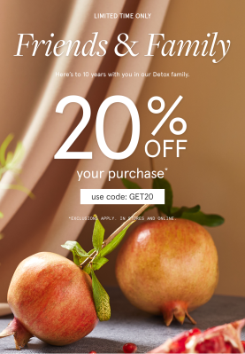 The Detox Market Friends & Family Sale: Get 20% Off!