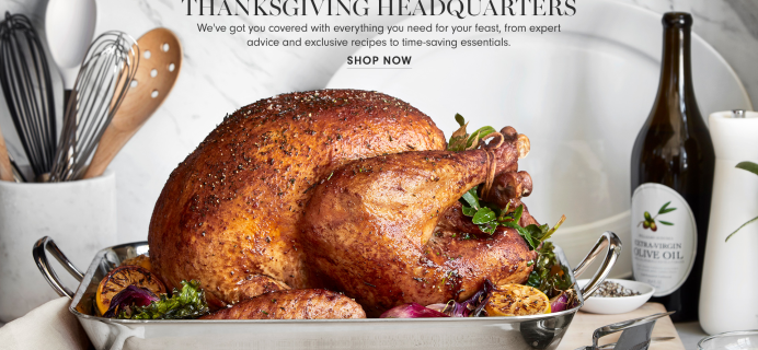 Williams Sonoma Thanksgiving Boxes Available Now!