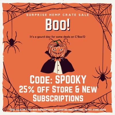 Hemp Crate Co Halloween Sale: Get 25% Off!
