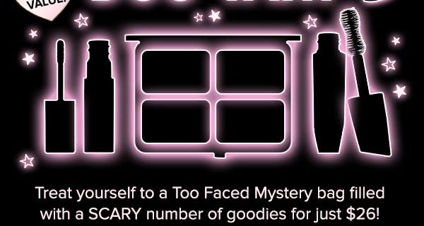 Too Faced Halloween Bag of Treats Mystery Bag AVAILABLE NOW!