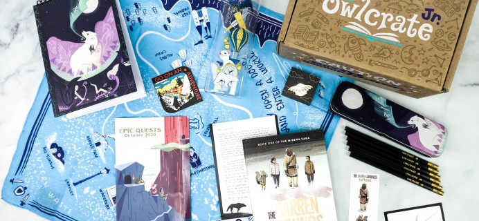 OwlCrate Jr. October 2020 Box Review & Coupon – EPIC QUESTS!