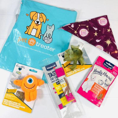 Pet Treater Cat Pack October 2020 Cat Subscription Review + Coupon!