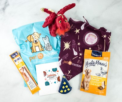Pet Treater Dog Pack October 2020 Subscription Box Review + Coupon