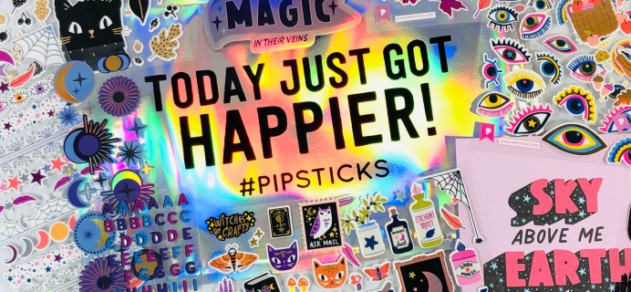 Pipsticks Pro Club Classic October 2020 Subscription Box Review + Coupon!