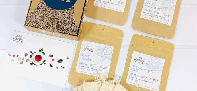 Simple Loose Leaf Tea October 2020 Subscription Box Review + Coupon!
