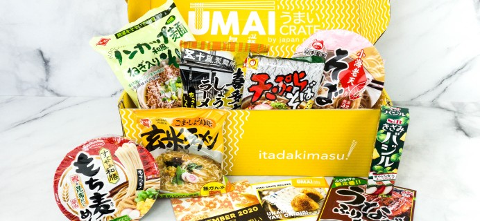 Umai Crate November 2020 Subscription Box Review + Coupon