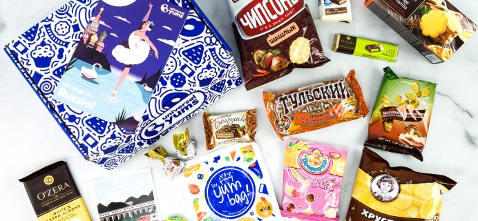 Universal Yums Subscription Box Review + Coupon – RUSSIA