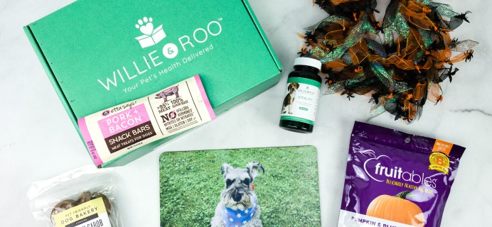Willie & Roo October 2020 Subscription Box Review + Coupon