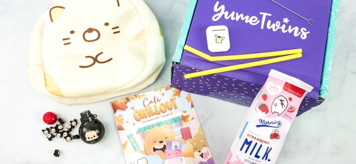 YumeTwins November 2020 Subscription Box Review + Coupon