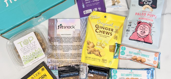 FitSnack September 2020 Subscription Box Review
