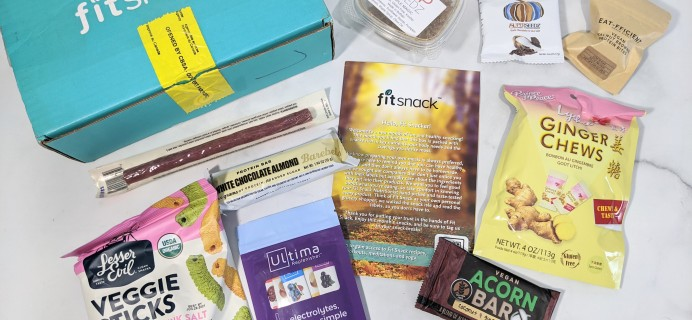 FitSnack October 2020 Subscription Box Review