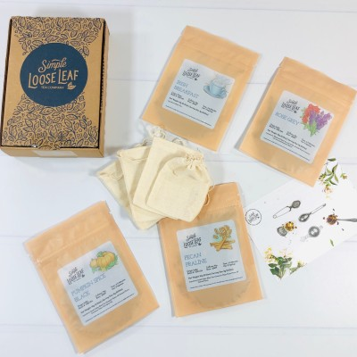 Simple Loose Leaf Tea November 2020 Subscription Box Review + Coupon!