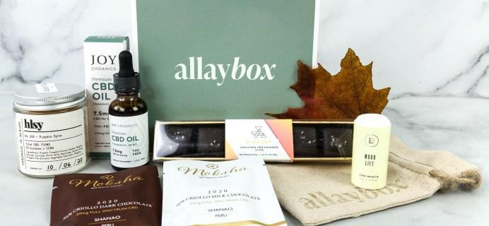 AllayBox October-November 2020 Subscription Box Review