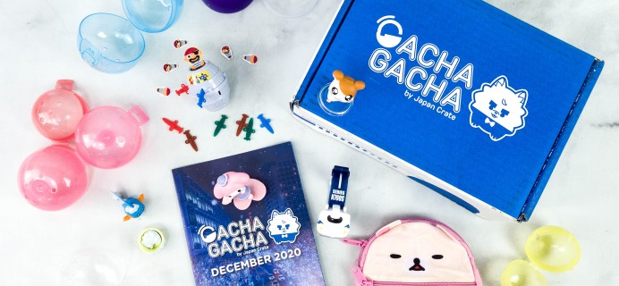 Gacha Gacha Crate December 2020 Subscription Box Review + Coupon