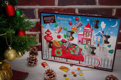 HERSHEY'S Milk Chocolates Holiday Advent Calendar Is Here: 24 Pieces Of Milk Chocolate!