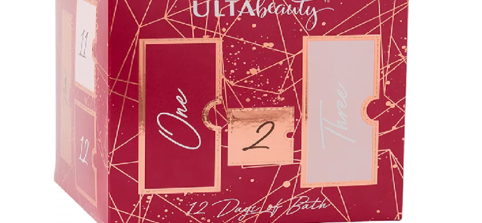 2020 Ulta Beauty Bath Advent Calendar Available Now + Full Spoilers!