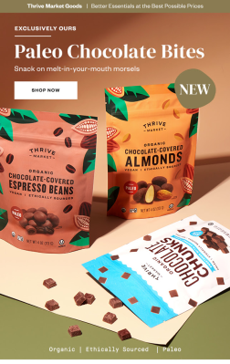 Thrive Market Paleo Chocolate Bites Available Now + Coupon