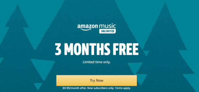 Amazon Music Unlimited Holiday Deal: 3 Months FREE!