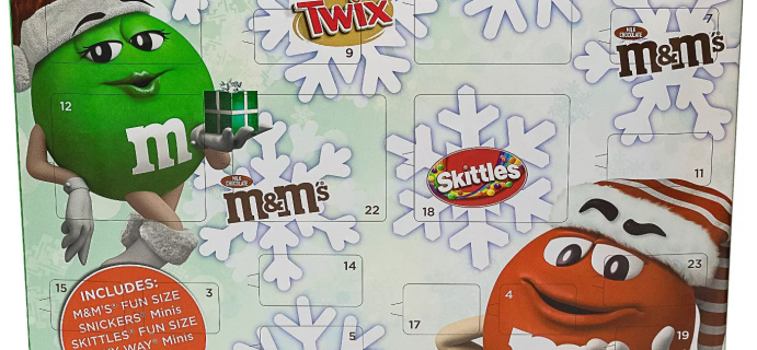 2020 M&Ms Chocolate Holiday Advent Calendar Available Now!