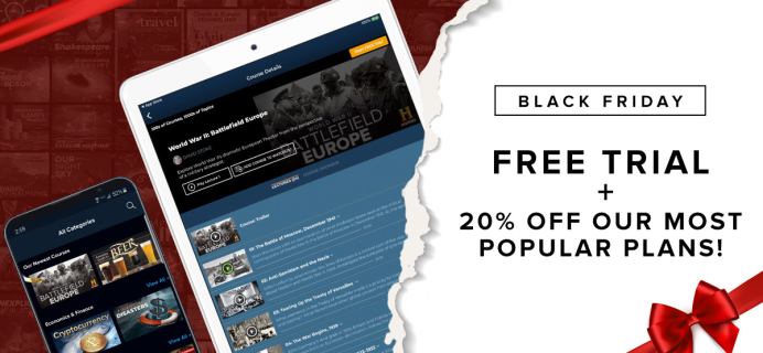 The Great Courses Cyber Monday Deal: Get 14 Day Free Trial + 20% Off!