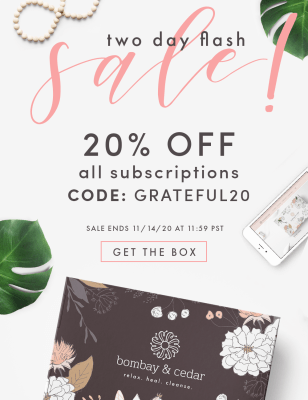 Bombay & Cedar Flash Sale: Get 20% Off ALL Subscriptions – Lifestyle, Beauty, & Seasonal Box!