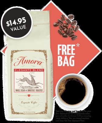 Amora Coffee Coupon: FREE Bag of Coffee – $1 Shipped!