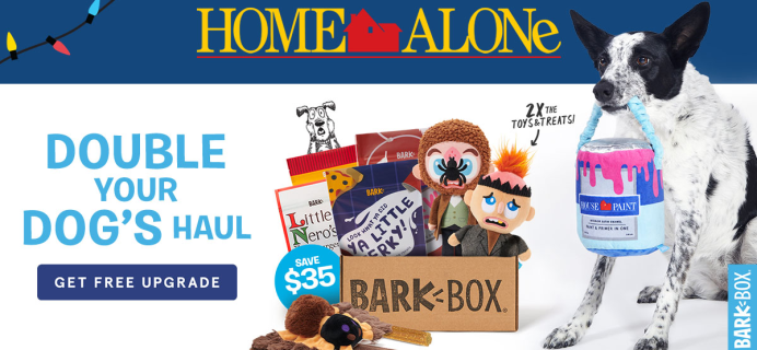 BarkBox Coupon: Double Your First Box for FREE + Home Alone Themed Limited Edition Box!