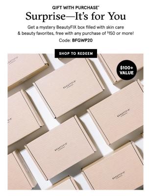 BeautyFIX Flash Sale: FREE BeautyFix Mystery Box With $150+ Dermstore Purchase!