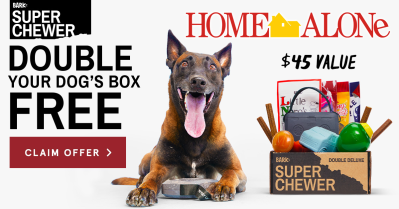 Super Chewer Coupon: Double Your Box First Month + Home Alone Themed Limited Edition Box!