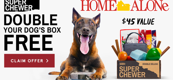 Super Chewer Cyber Monday Deal: Double Your Box First Month + Home Alone Themed Limited Edition Box!
