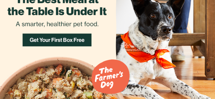 The Farmer's Dog Black Friday Deal: Get your first box FREE!