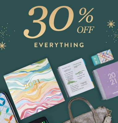 Erin Condren Black Friday Sale: Get 30% Off Entire Site!