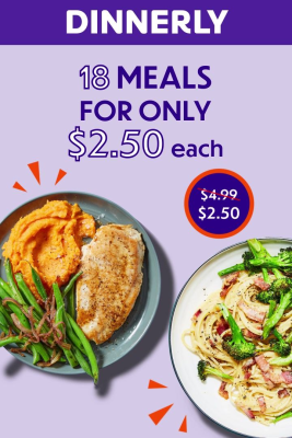 Dinnerly Cyber Monday Deal 2020: Get $15 Off On Your First 3 Orders!