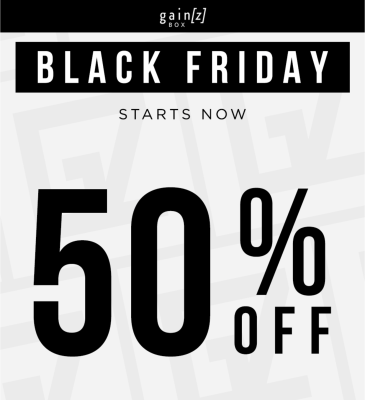 Gainz Box Black Friday Coupon: Get 50% off your first box!