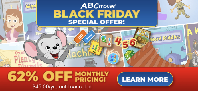 ABCmouse Black Friday 2020 Sale: Get 1 Year of ABCmouse for $45 – 60% Off!