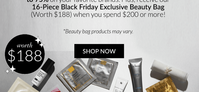 Skinstore Black Friday Deals: FREE $188 Beauty Bag + Save up to 75% OFF!
