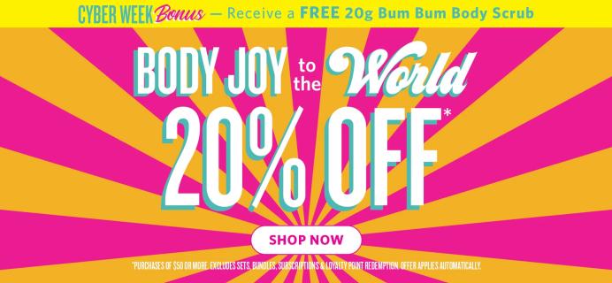 Sol de Janeiro Black Friday Deal: 20% off $50+ Orders PLUS Free Bum Bum Scrub Mini!