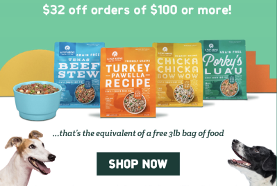 A Pup Above Cyber Monday Deal: Save $32 on $100 Orders!
